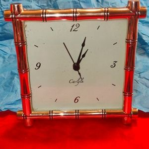 Carlyle vintage gold mantel clock